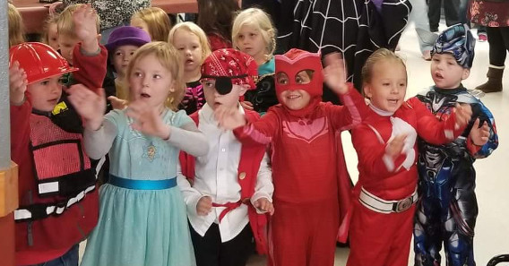Preschool Students Singing at the Nursing Home and Assisted Living