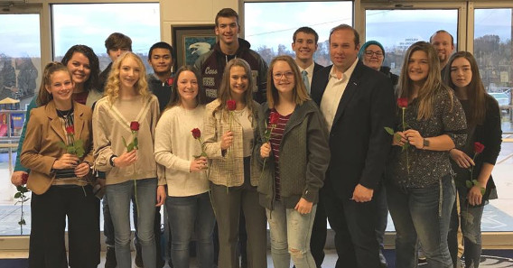 MGHS Constitution Team with Congressman Jason Smith and Representative Hannah Kelly